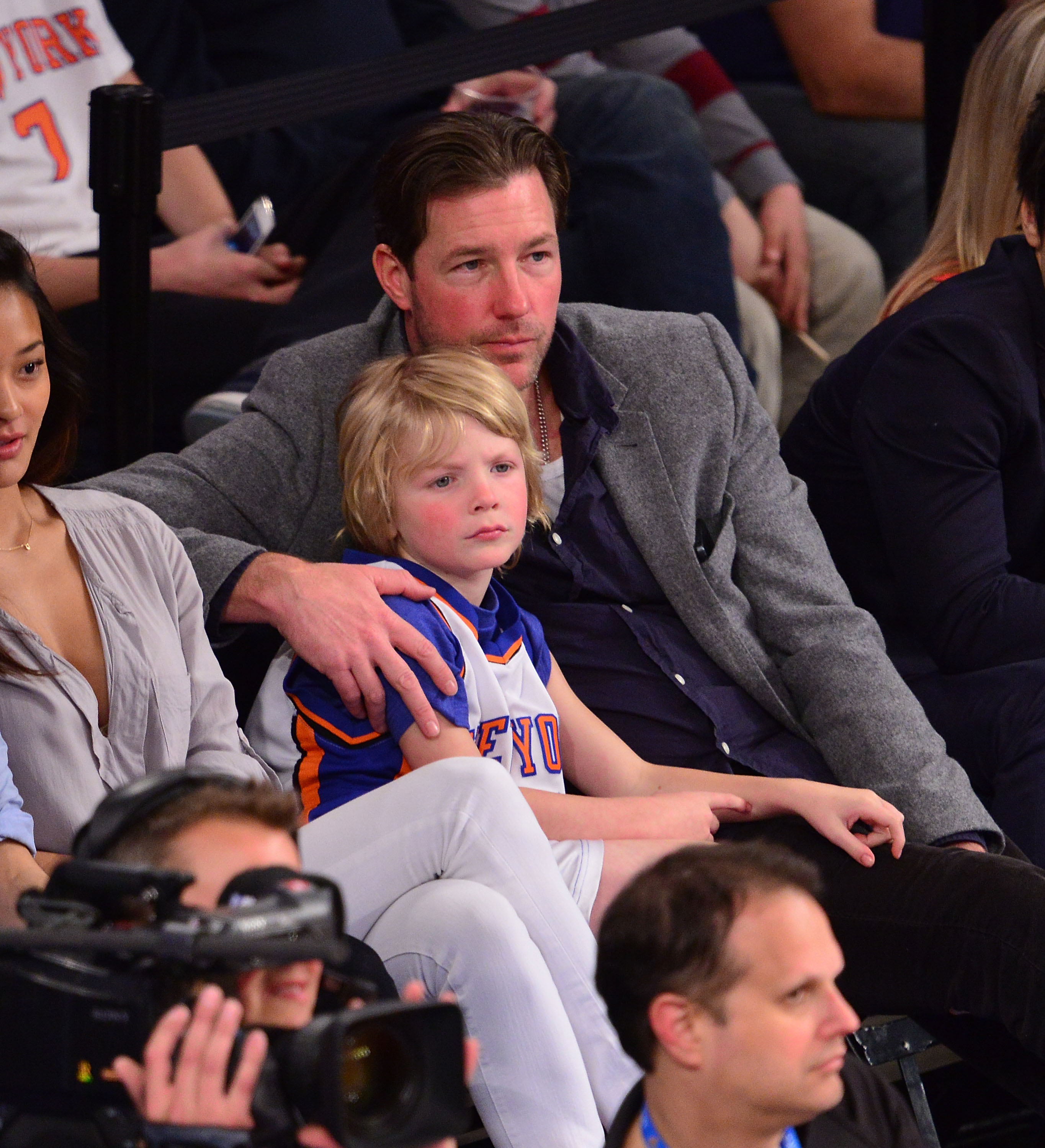 Ed Burns and son Finn