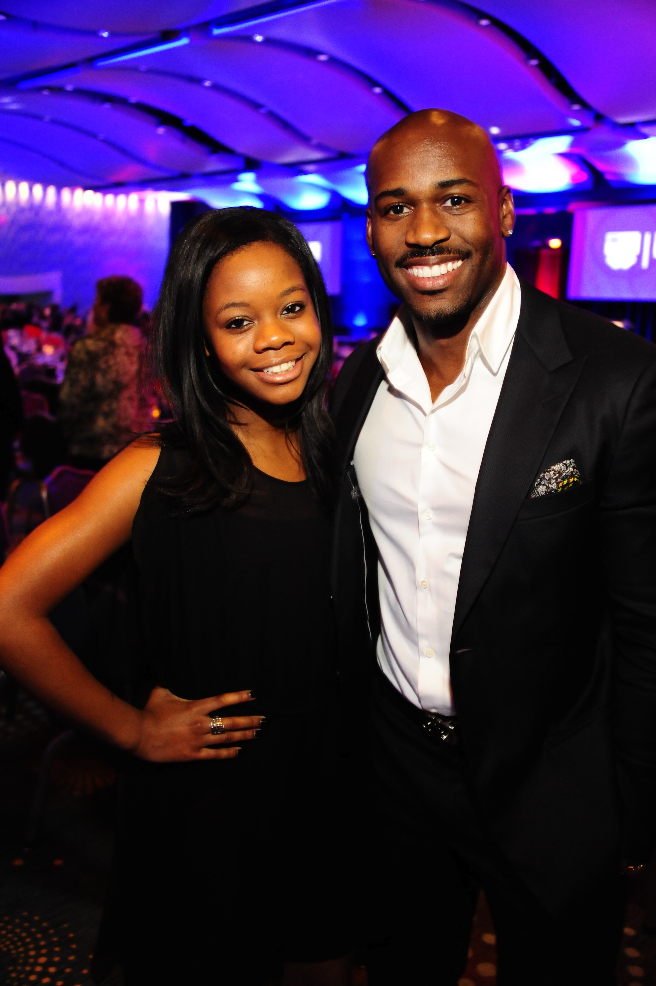Gabby Douglas with Biggest Loser's Dolvett Quince