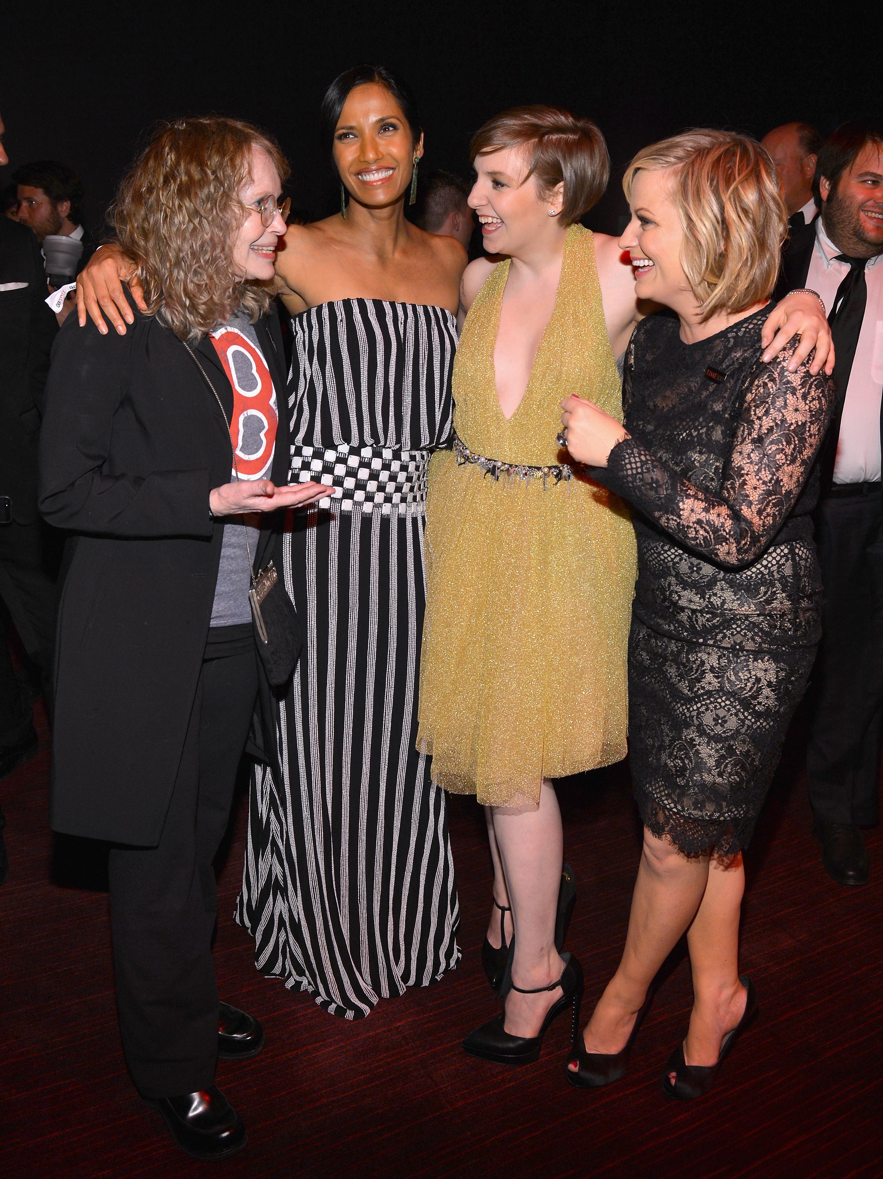 Mia Farrow, Padma Lakshmi, Lena Dunham & Amy Poehler