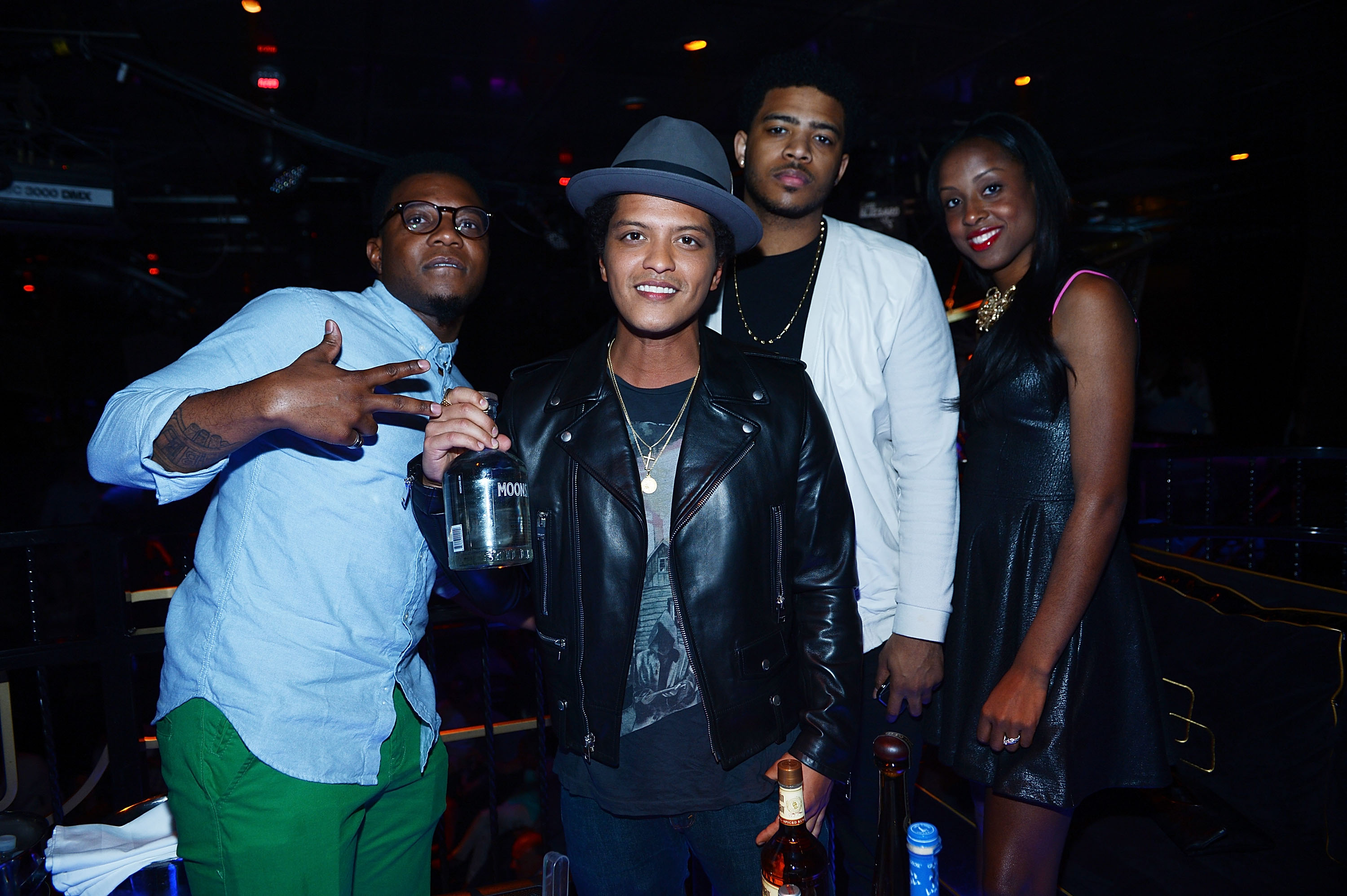 Bruno Mars Hosts At The Bank Nightclub at the Bellagio Hotel And Casino