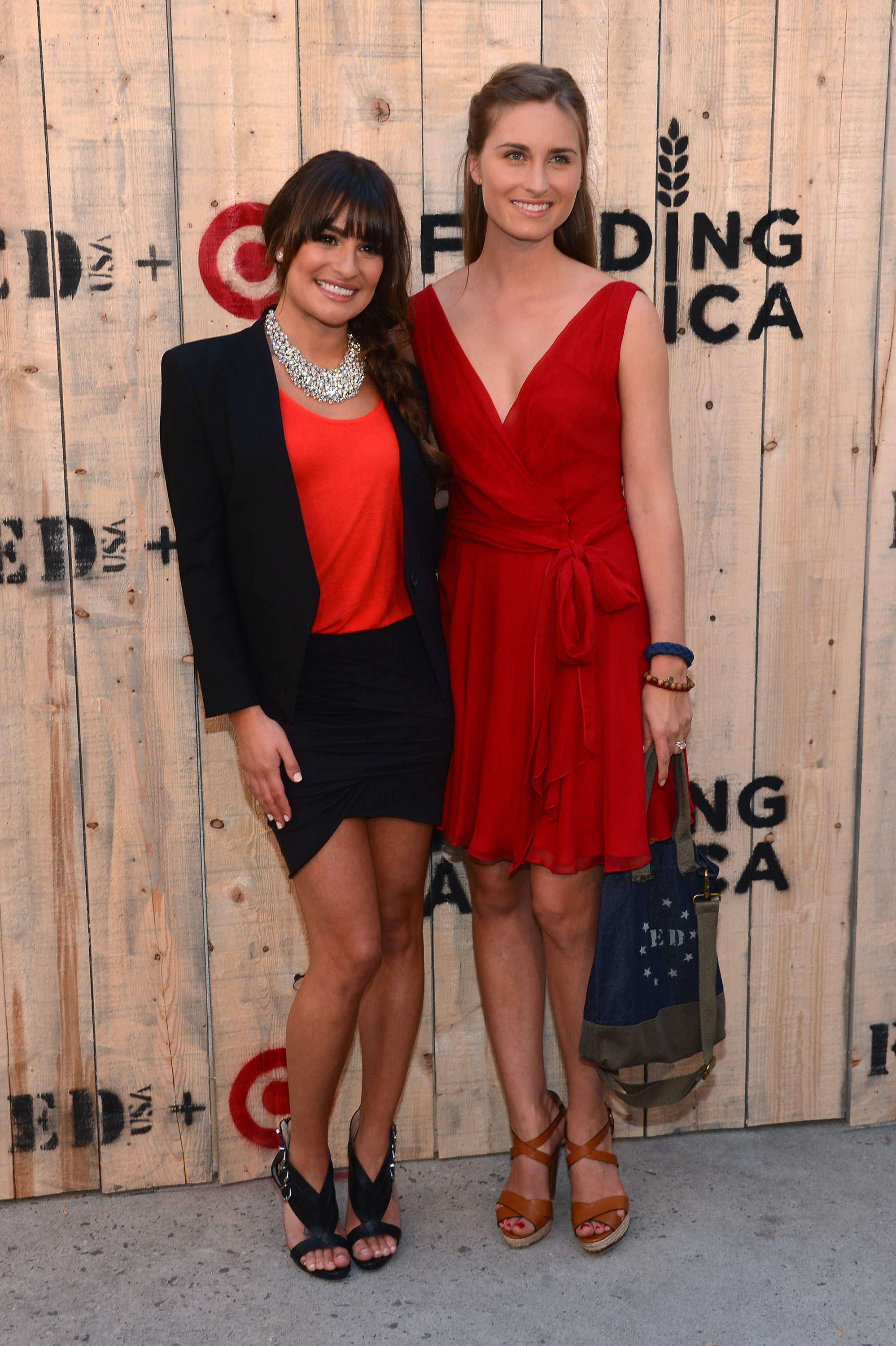 Lea Michele & Lauren Bush Lauren