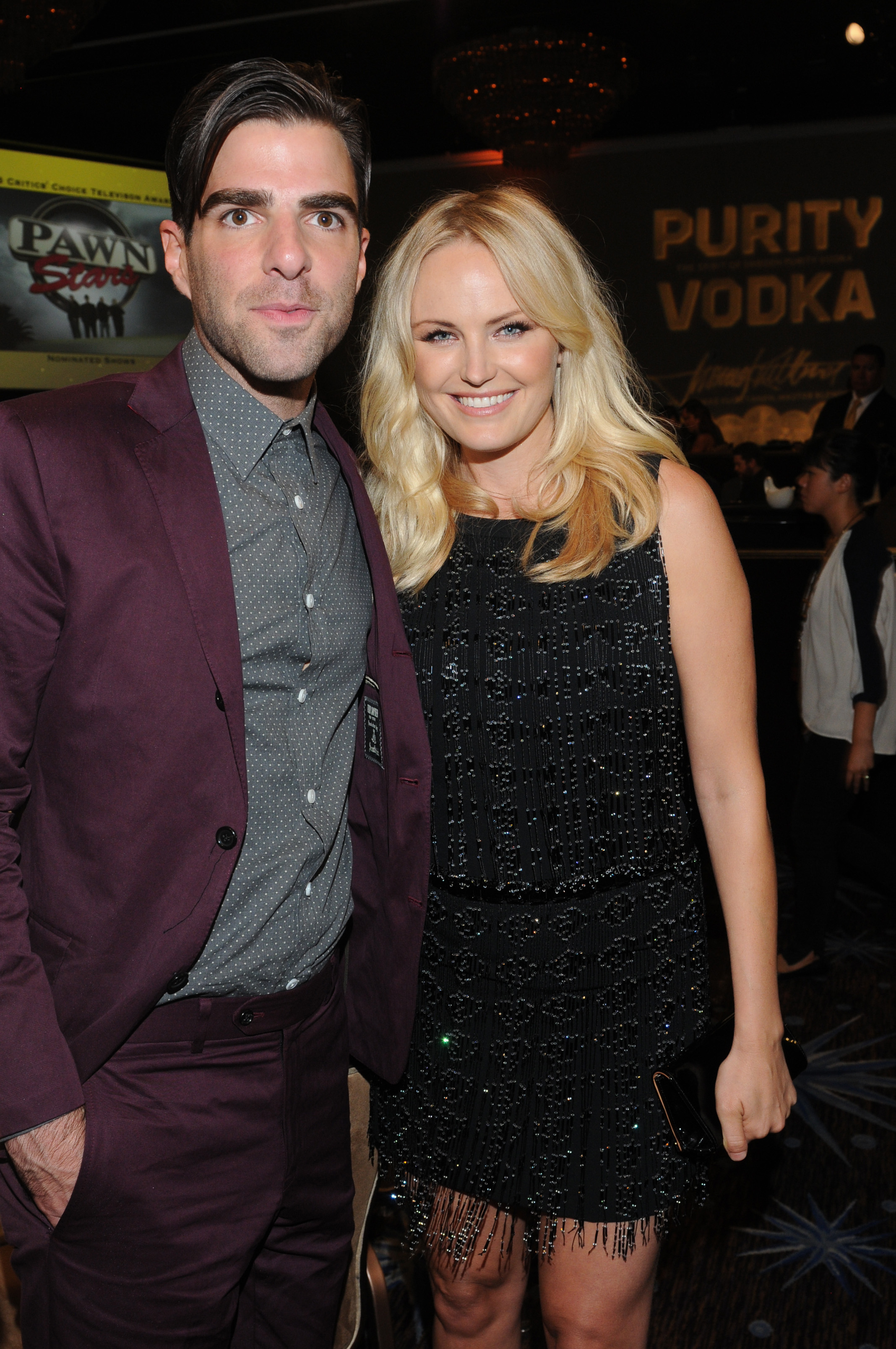 Zachary Quinto & Malin Akerman