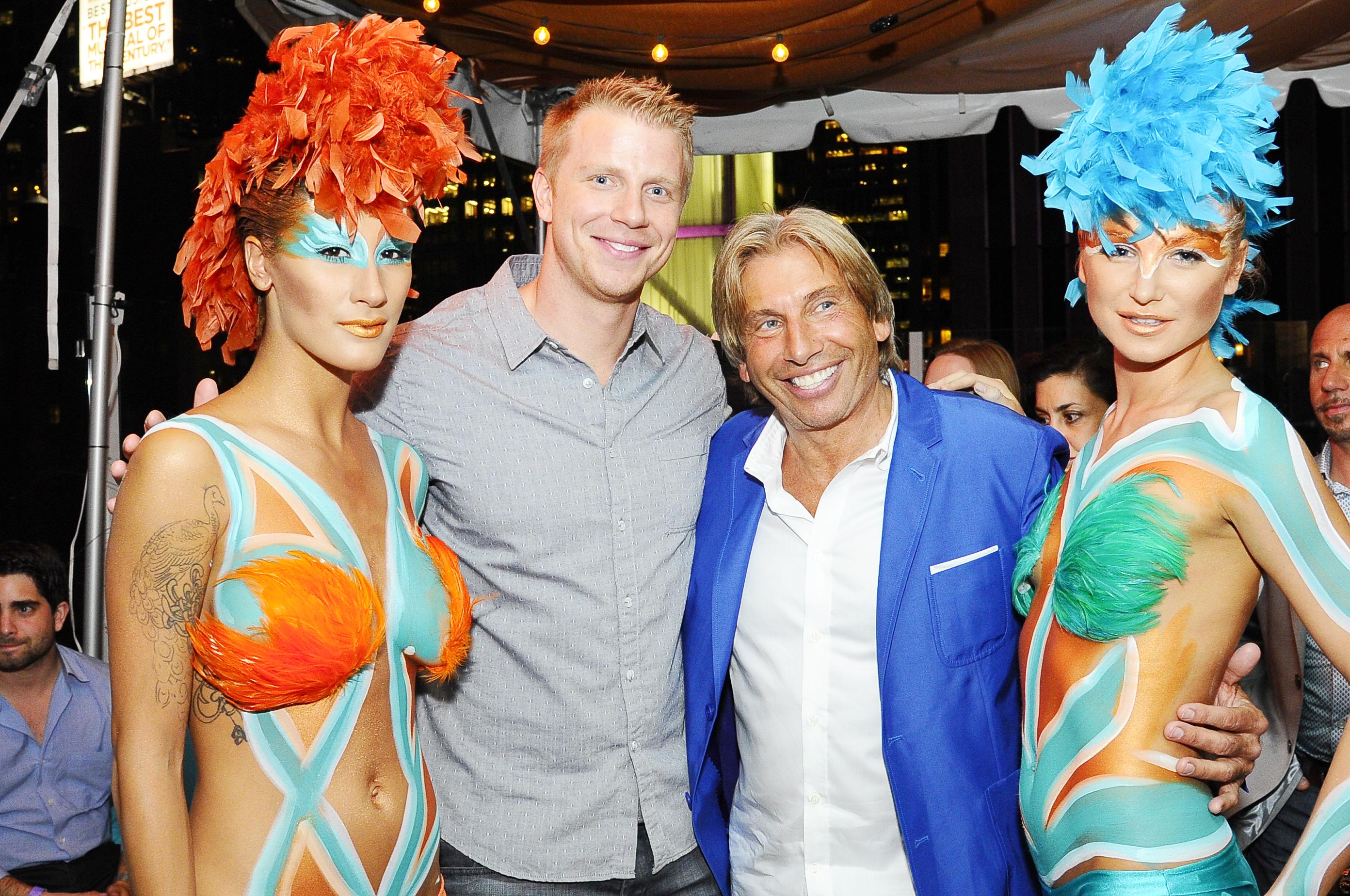 Sean Lowe, Hank Freid and Haven dancers