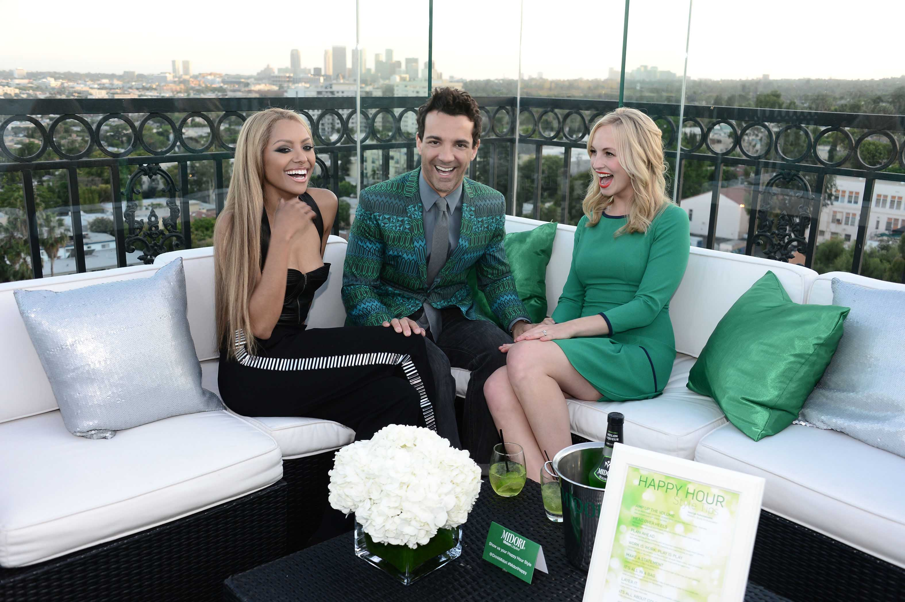 Kat Graham, George Kotsiopoulos & Candice Accola