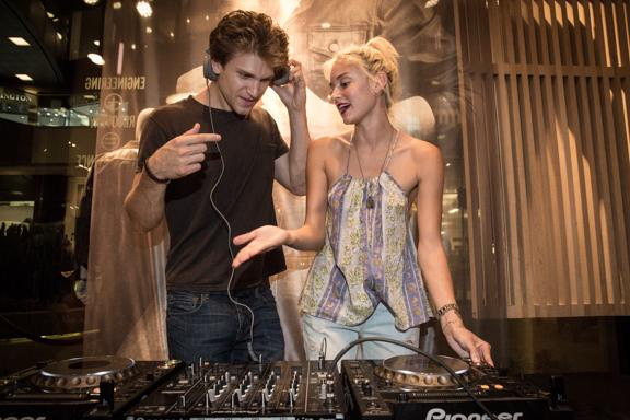 Keegan Allen & DJ Caroline D'Amore