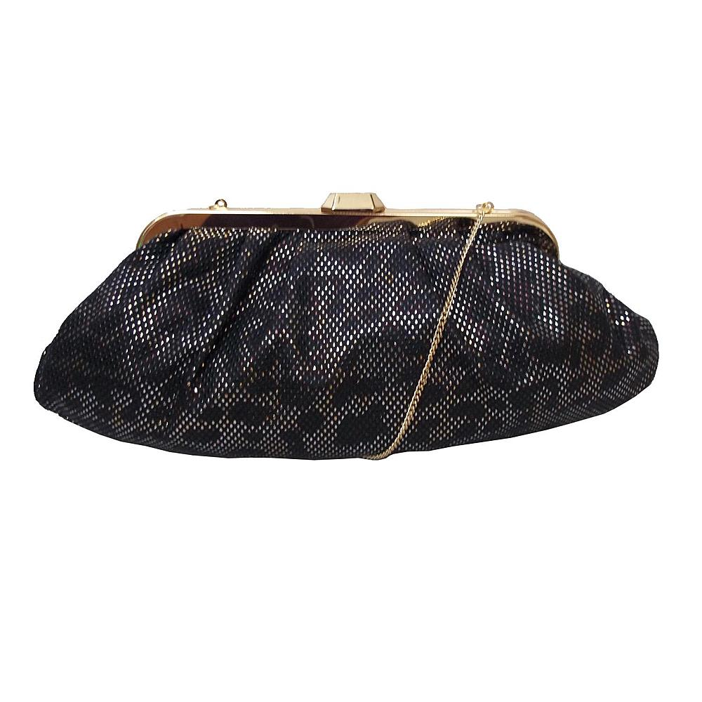 Kardashian Kollection Women's Frame Clutch - Studded Leopard Print