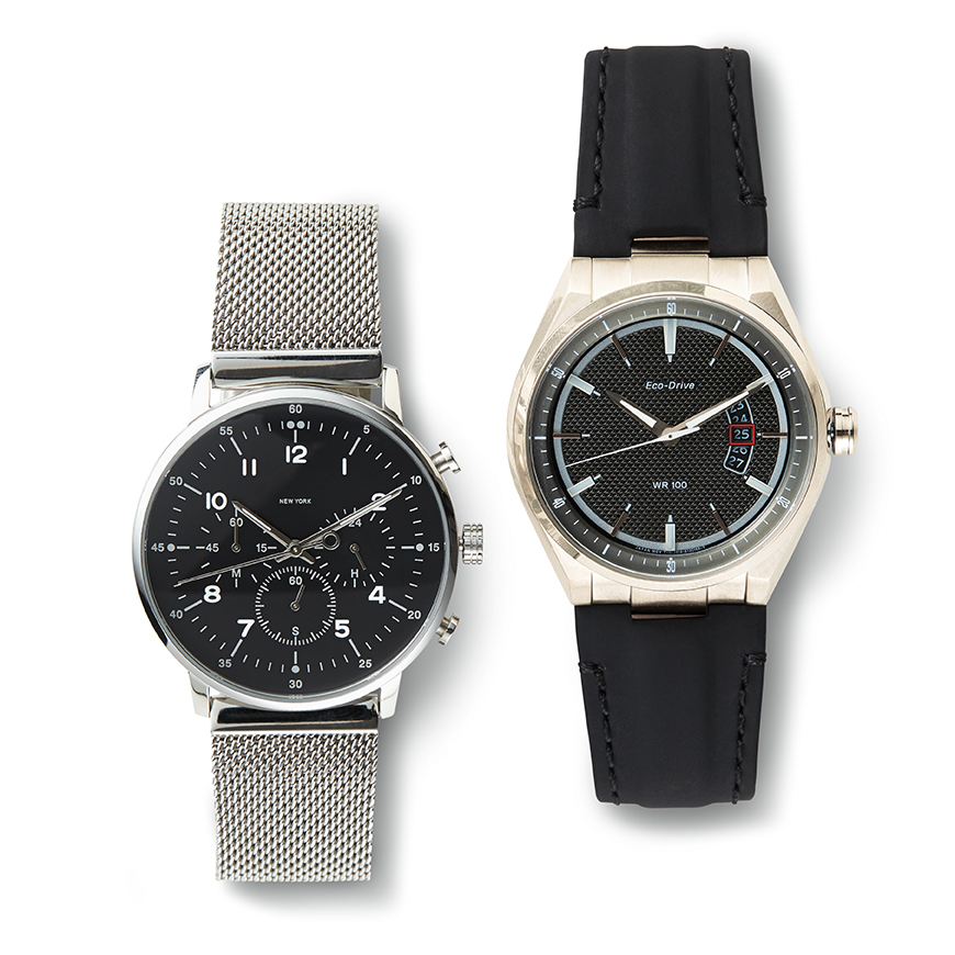 Grey and Black Watches For Men