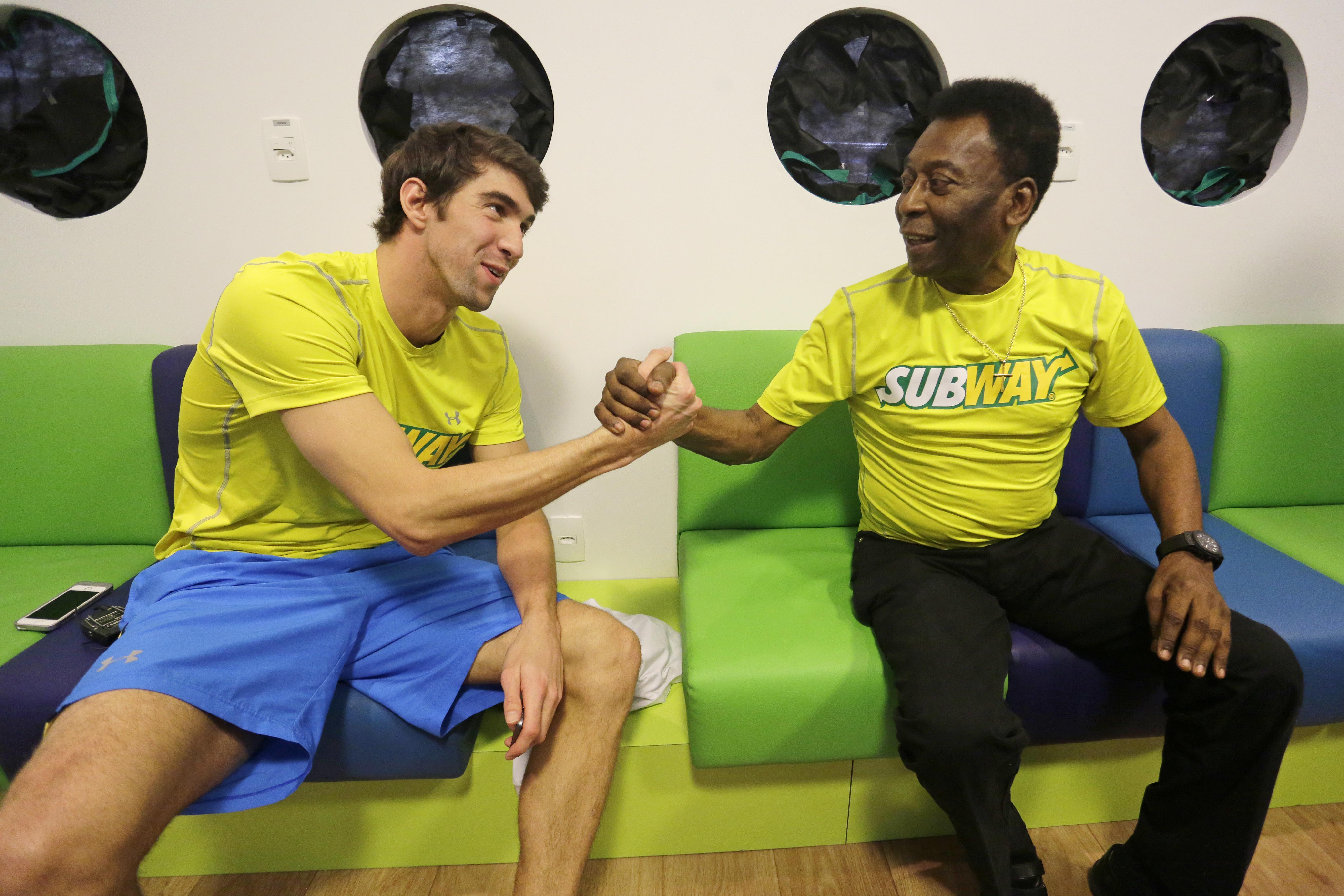 Pele and Michael Phelps