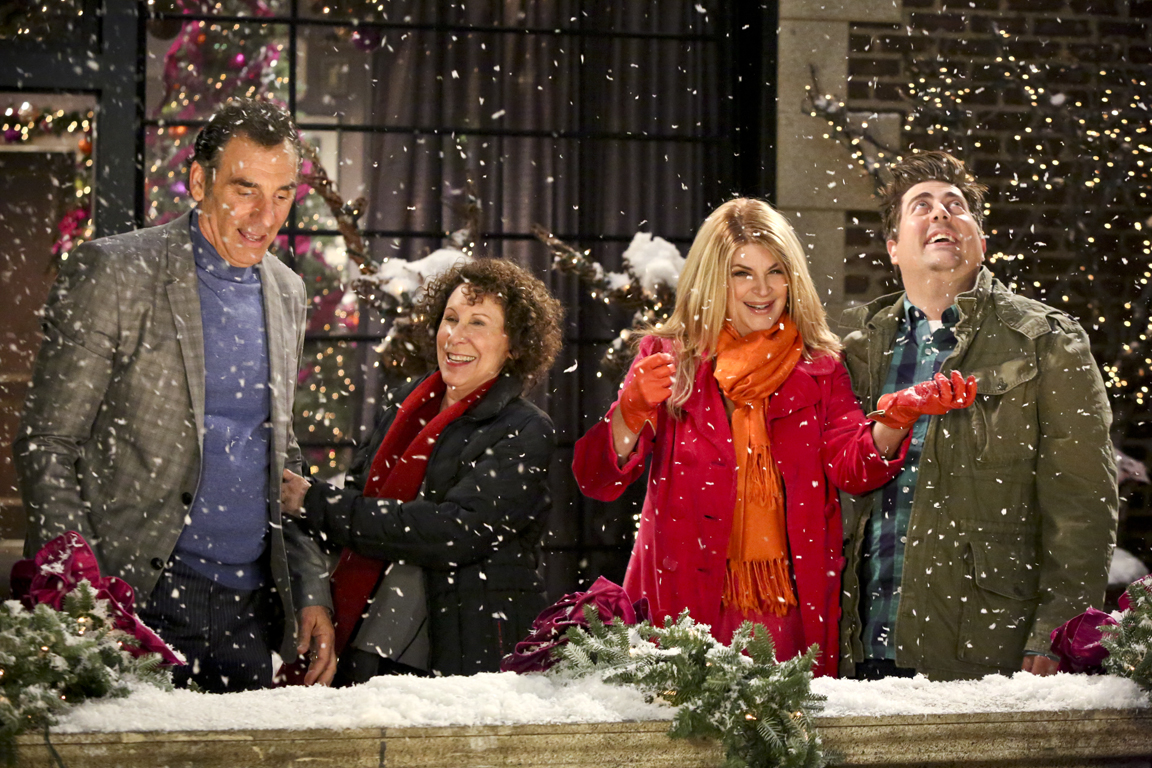 Michael Richards, Rhea Pearlman, Kirstie Alley & Eric Petersen