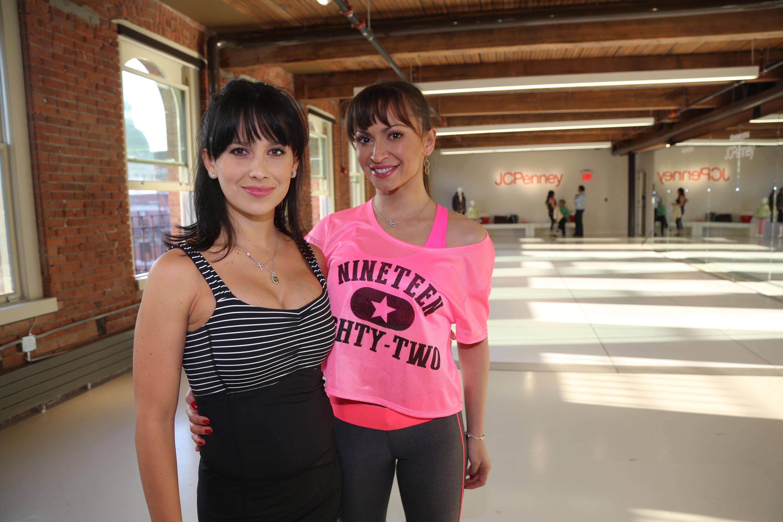 Hilaria Baldwin and Karina Smirnoff