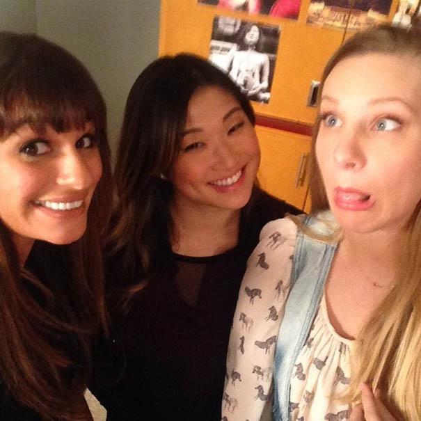 Lea Michele, Jenna Ushkowitz & Heather Morris