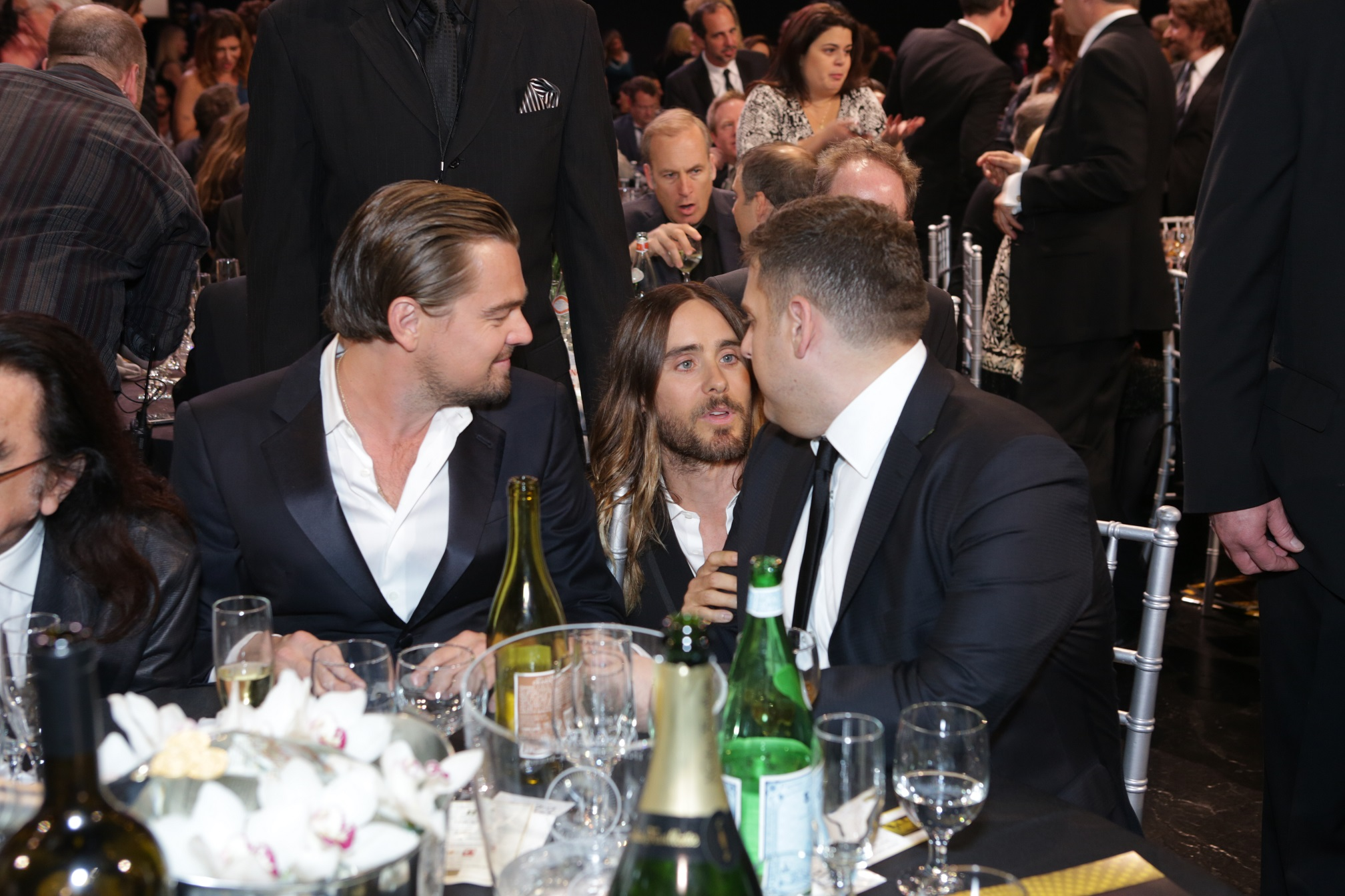 Leonardo DiCaprio, Jared Leto & Jonah Hill