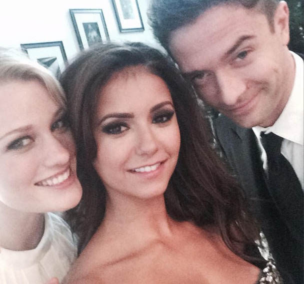 Ashley Hinshaw, Nina Dobrev & Topher Grace