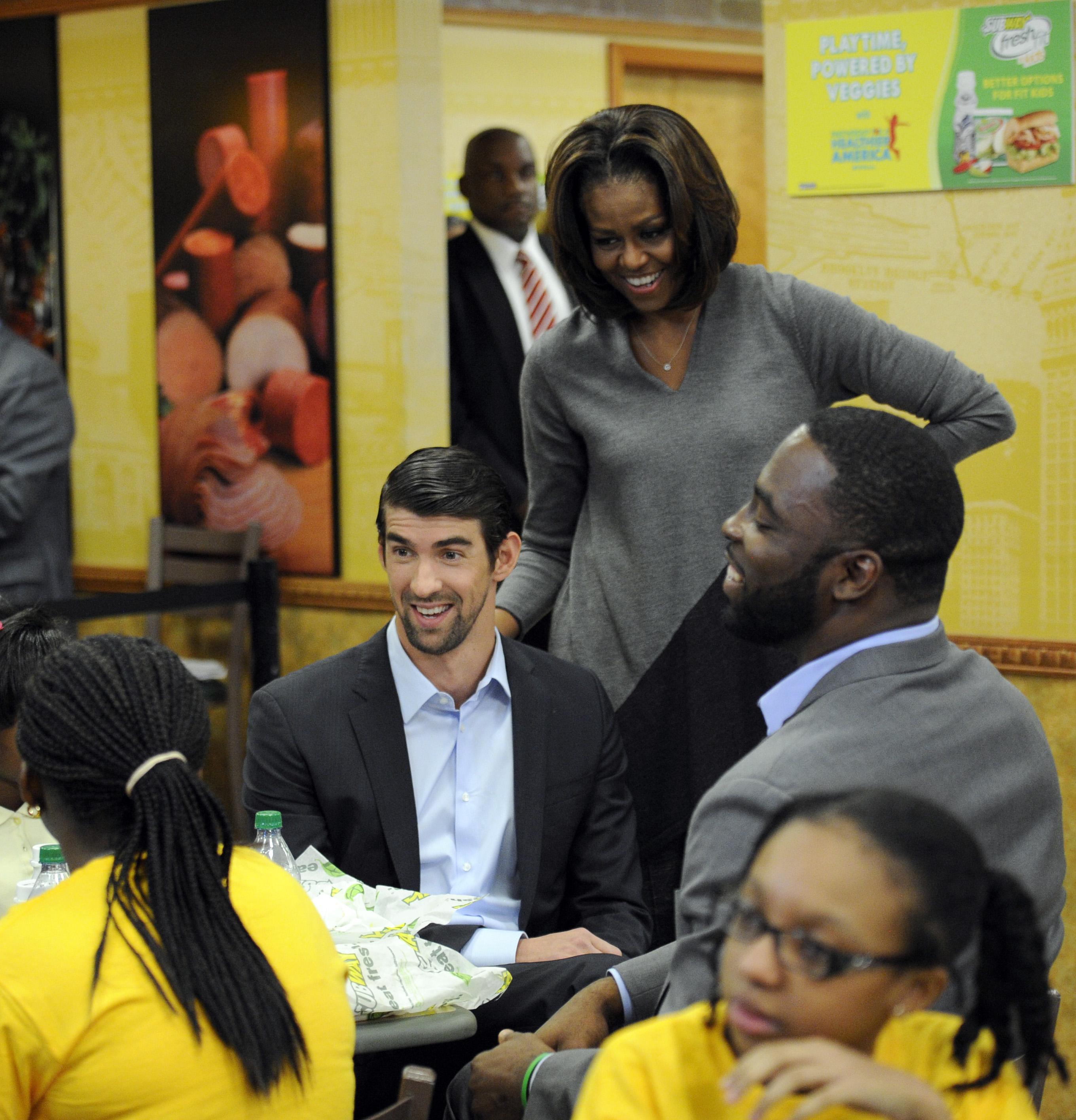 Michael Phelps, Michelle Obama, Justin Tuck