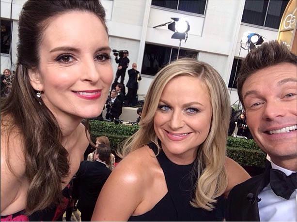Tina Fey, Amy Poehler & Ryan Seacrest