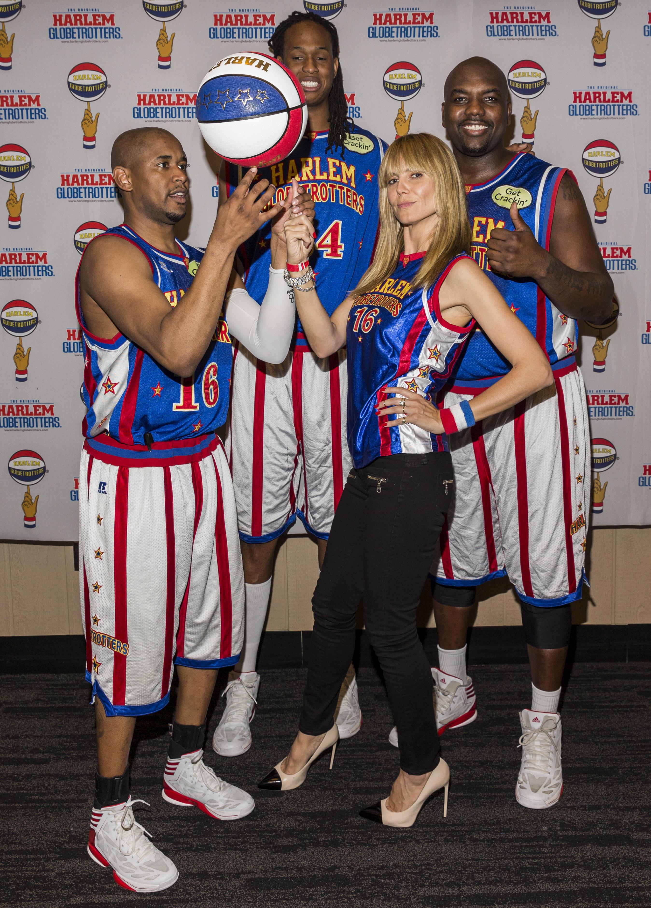Heidi Klum & Harlem Globetrotters