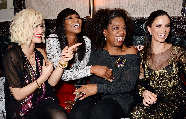 Rita Ora, Naomi Campbell, Oprah Winfrey & Georgina Champan