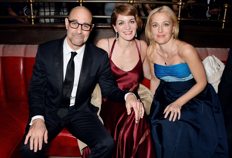 Stanley Tucci, Felicity Blunt & Gillian Anderson