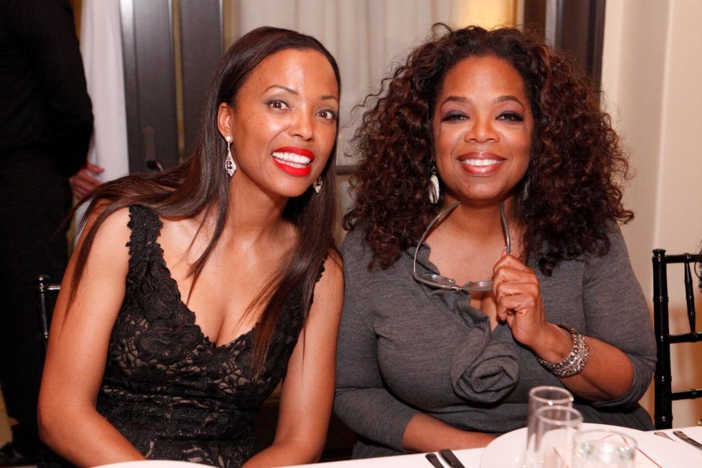 Aisha Tyler & Oprah Winfrey