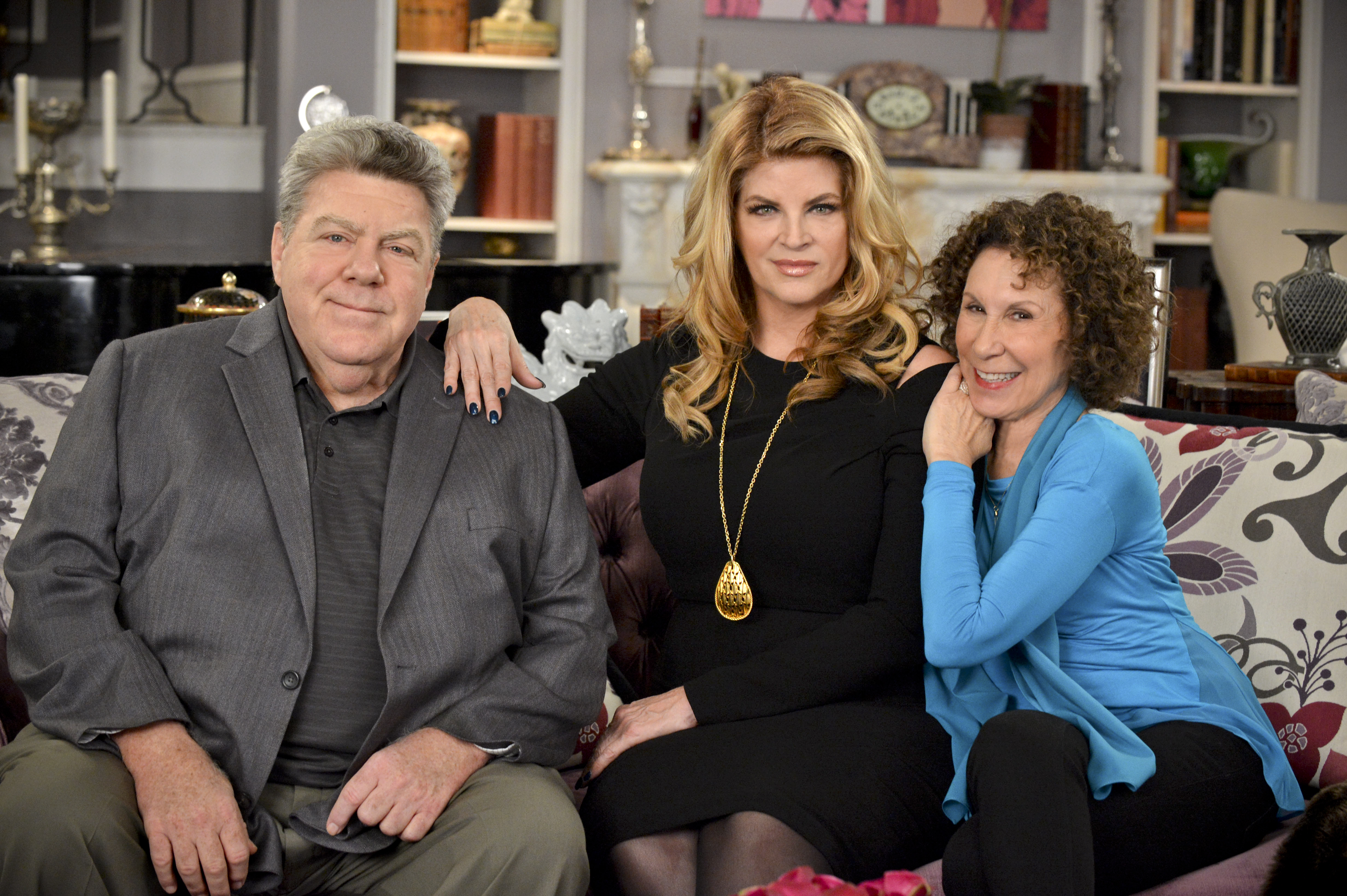 George Wendt, Kirstie Alley and Rhea Perlman