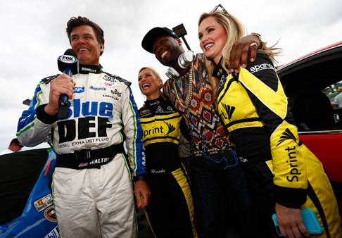Michael Waltrip, Kim Coon, 50 Cent & Brooke Werner