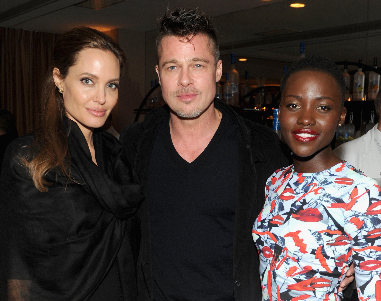 Angelina Jolie, Brad Pitt & Lupita Nyong'o