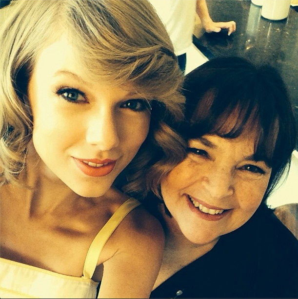 Taylor Swift with chef Ina Garten
