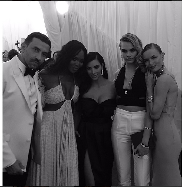 Riccardo Tisci, Naomi Campell, Kim Kardashian, Cara Delevingne, Kate Bosworth