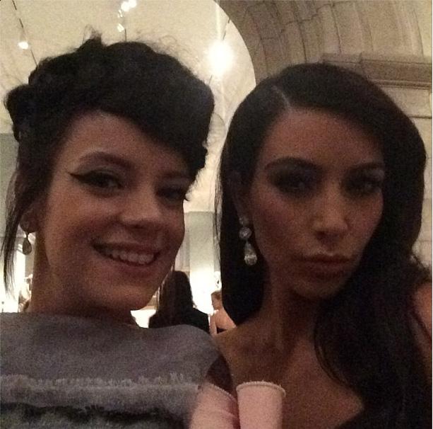 Lily Allen & Kim Kardashian