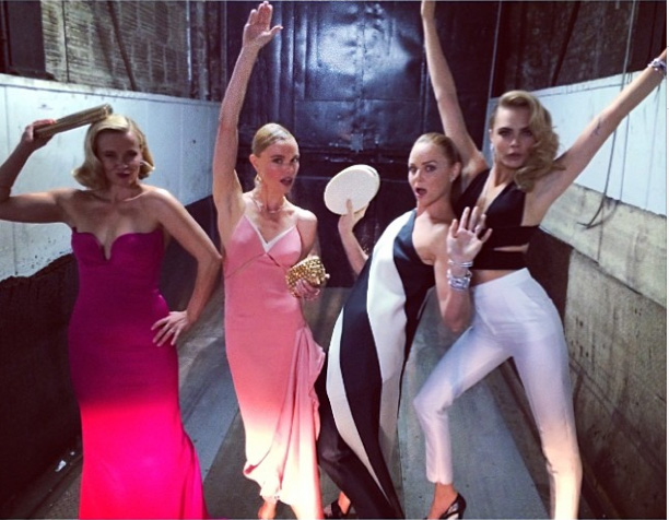 Reese Witherspoon, Kate Bosworth, Stella McCartney & Cara Delevingne