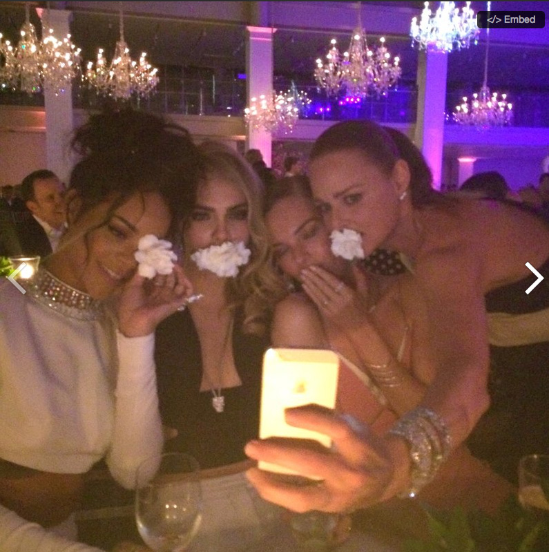 Rihanna, Cara Delevingne, Kate Bosworth & Stella McCartney