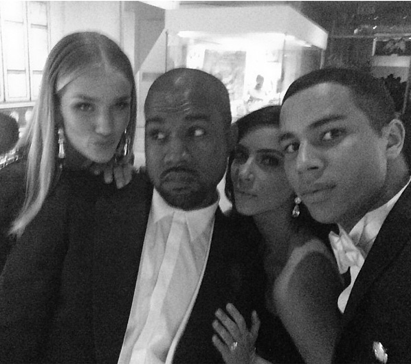 Rosie Huntington Whiteley, Kanye West, Kim Kardashian & Oliver Rouseting