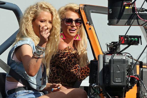 Britney spears iggy azalea music video shoot inf