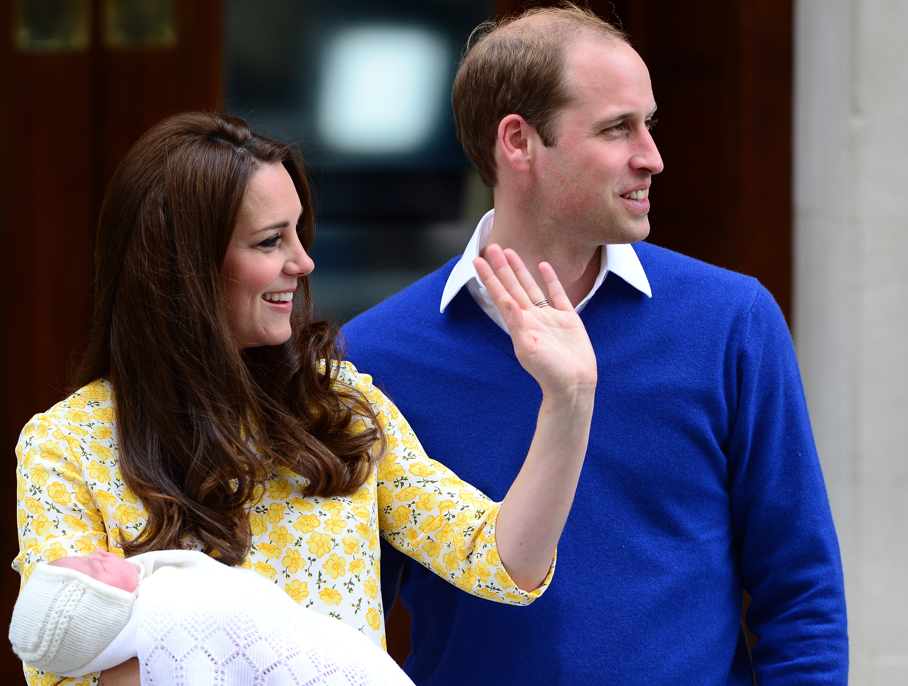 The Duke and Duchess of Cambridge and The Princess of Cambridge leave the Lindo Wing