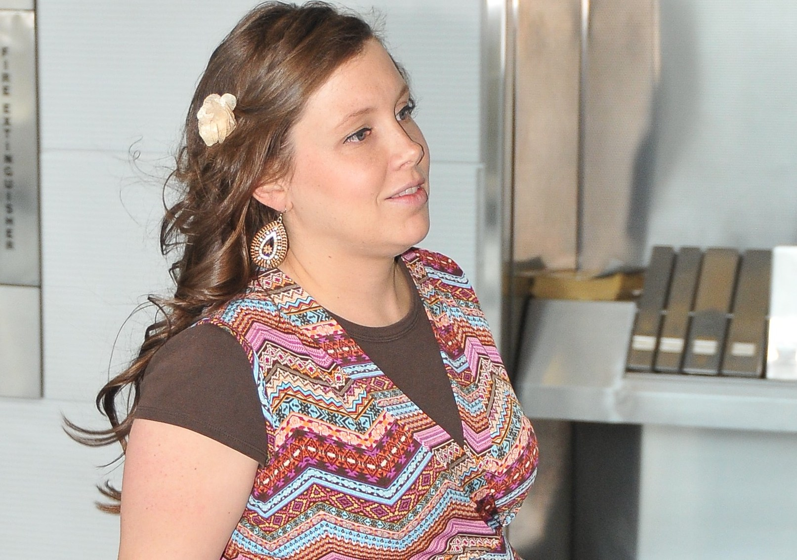 EXCLUSIVE: A very pregnant Anna Duggar arrives at a Washington, DC airport