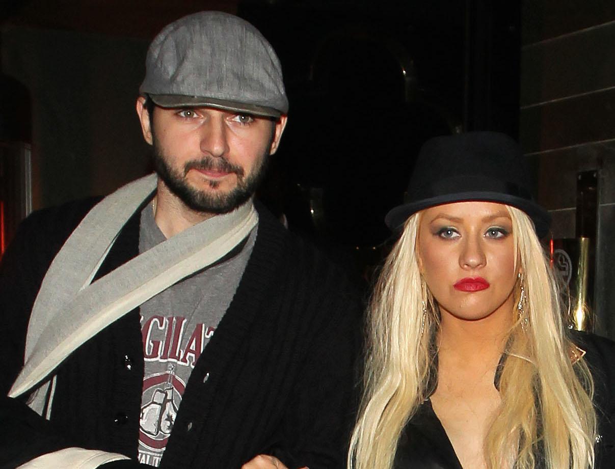 Christina Aguilera and Matt Rutler are seen leaving Hakkasan Restaurant.