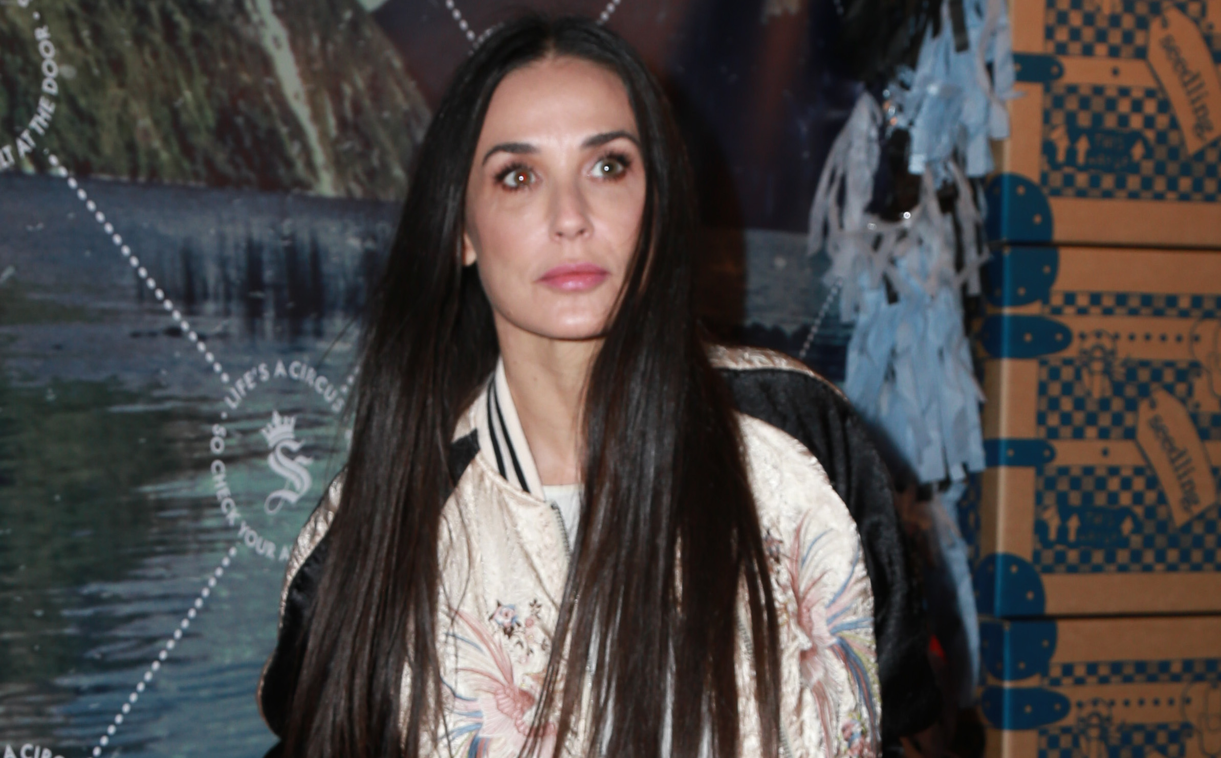Actress Demi Moore supports good friend Soleil Moon Frye at the launch of her Seedling company headquarters in  LA's Art District
