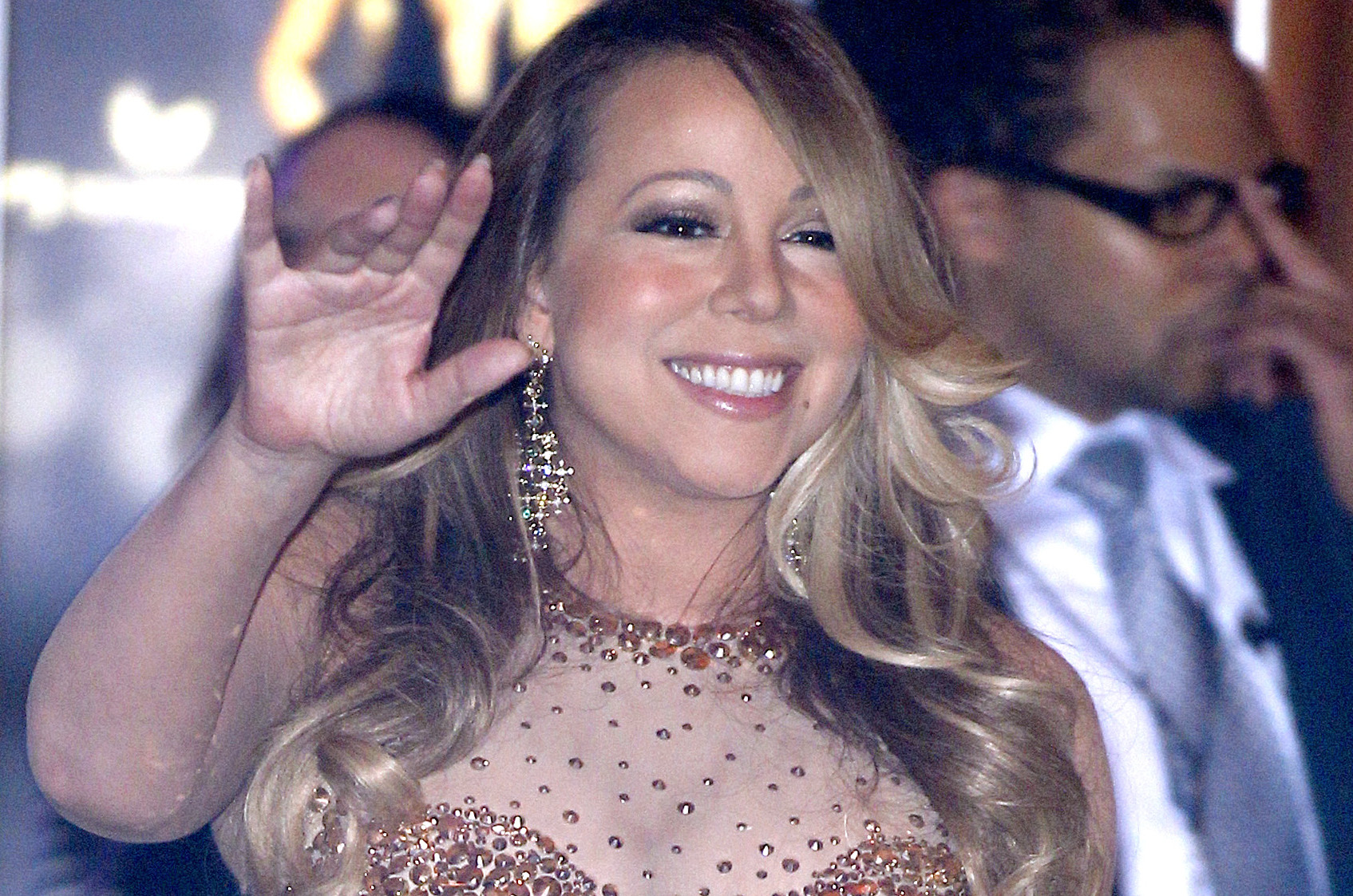 Mariah Carey celebrates her official arrival At Caesars Palace Hotel in Las Vegas