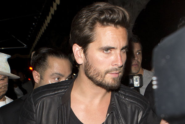 Scott Disick looking Bleary Eyed seen at 'Warwick' Night Club in Hollywood, CA