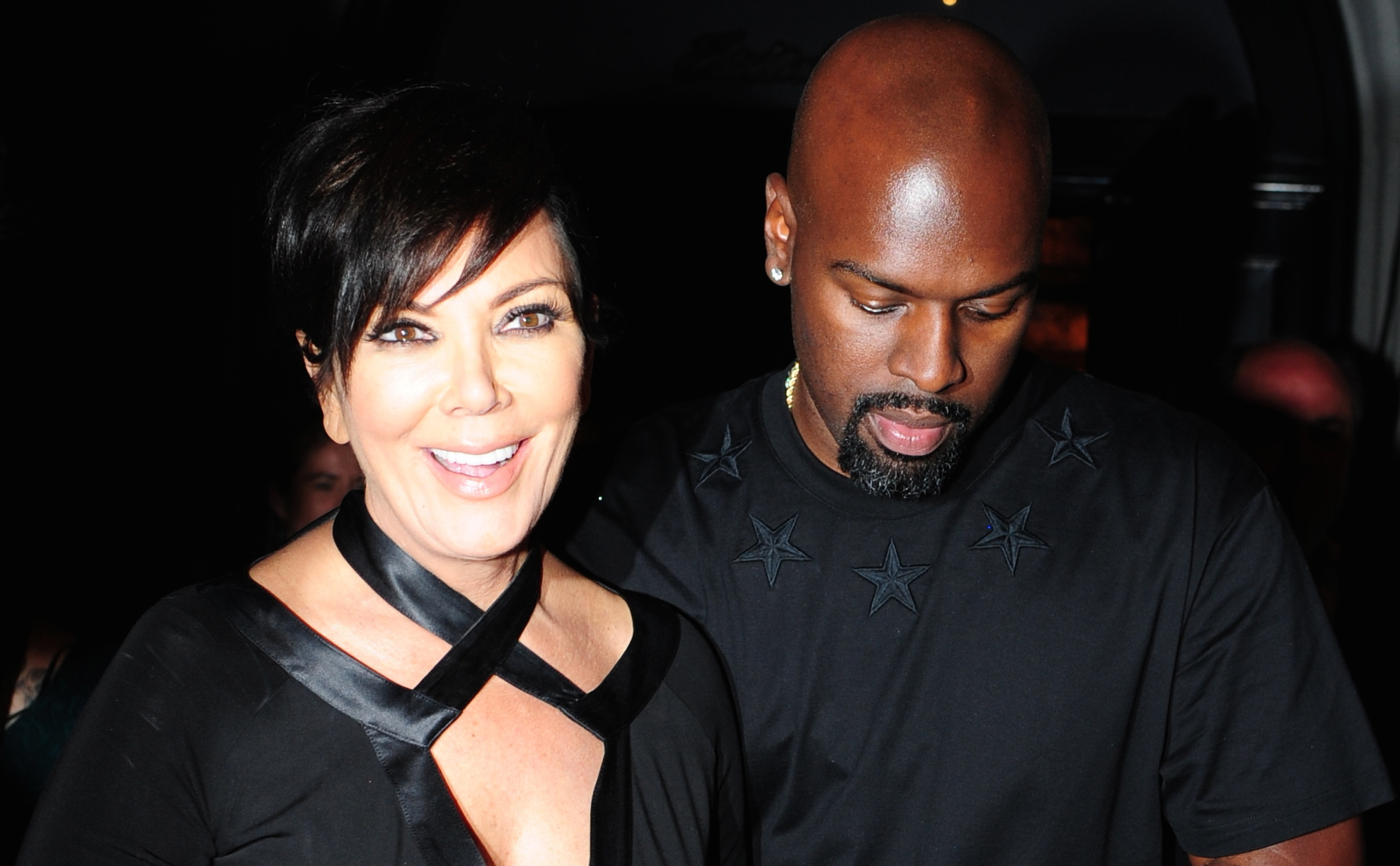 Kris Jenner and Corey Gamble leave Craig's on Melrose in Los Angeles