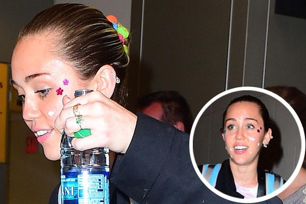 Miley cyrus makeup malfunction