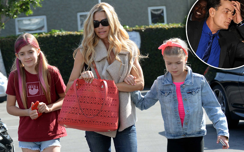 charlie sheen hiv positive denise richards money daughters
