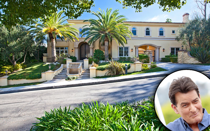 charlie sheen hiv positive mansion sale