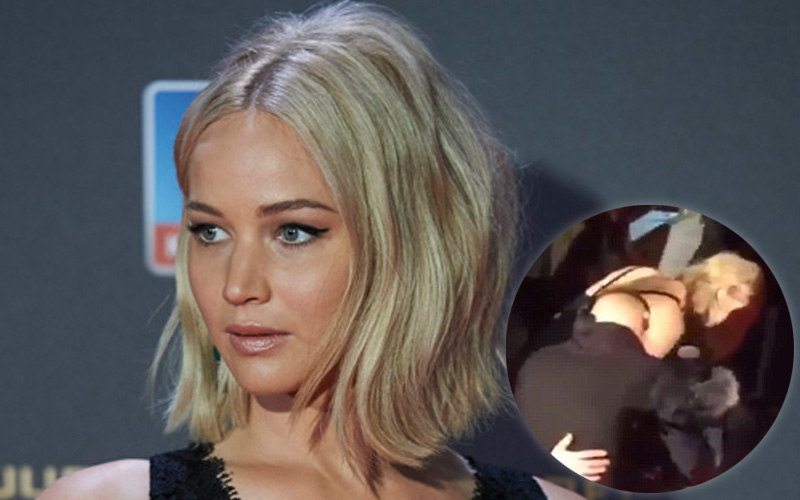 Jennifer lawrence falls hunger games red carpet feature
