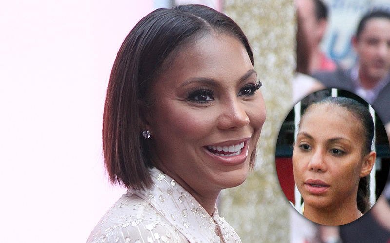 Singer and media personality Tamar Braxton visits 'Good Morning America' in NYC's Times Square
