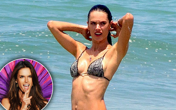 alessandra ambrosio bikini topless beach photos