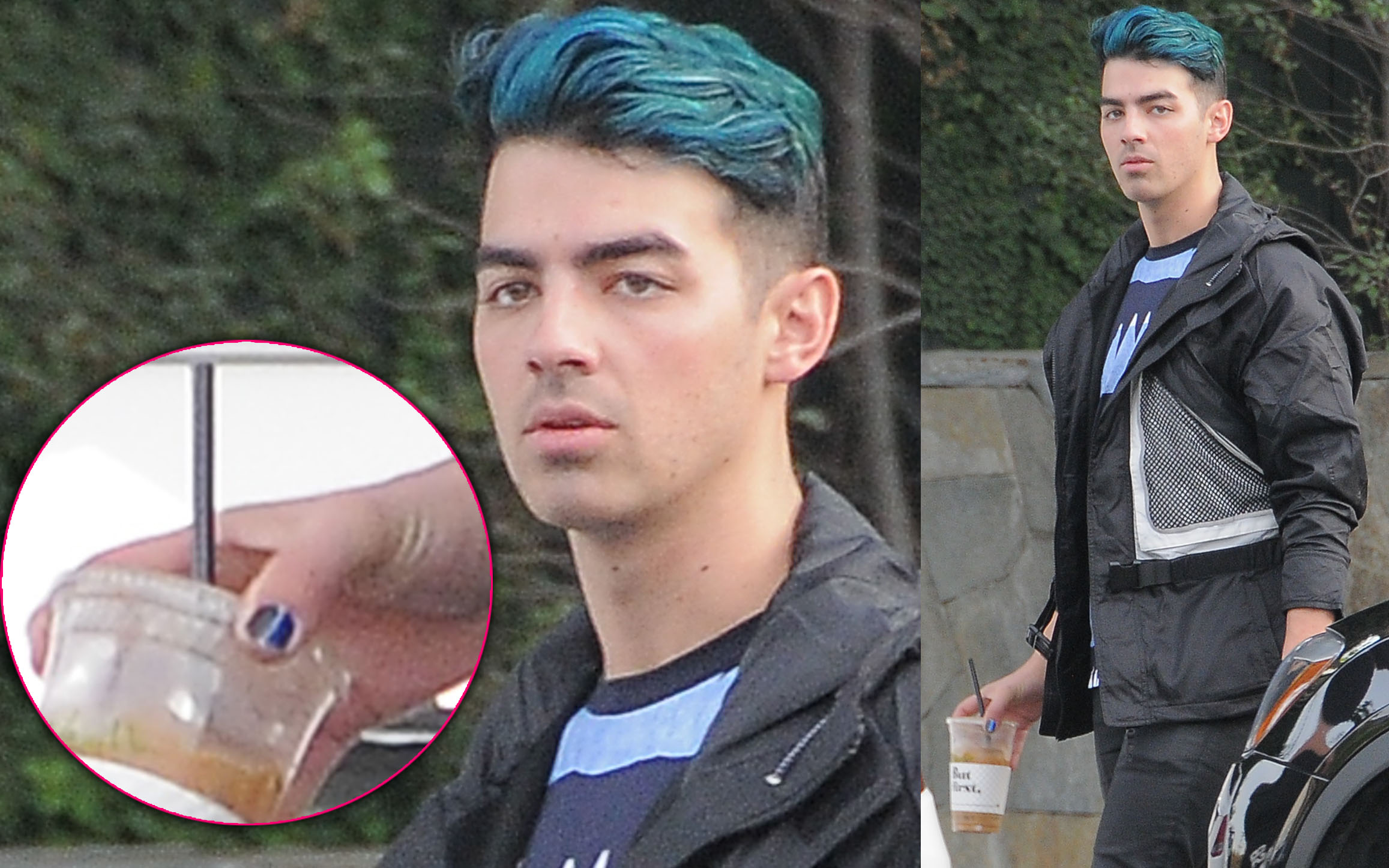 Joe Jonas Spotted Wearing Blue Nail Polish — Is He Feeling Emo After ...