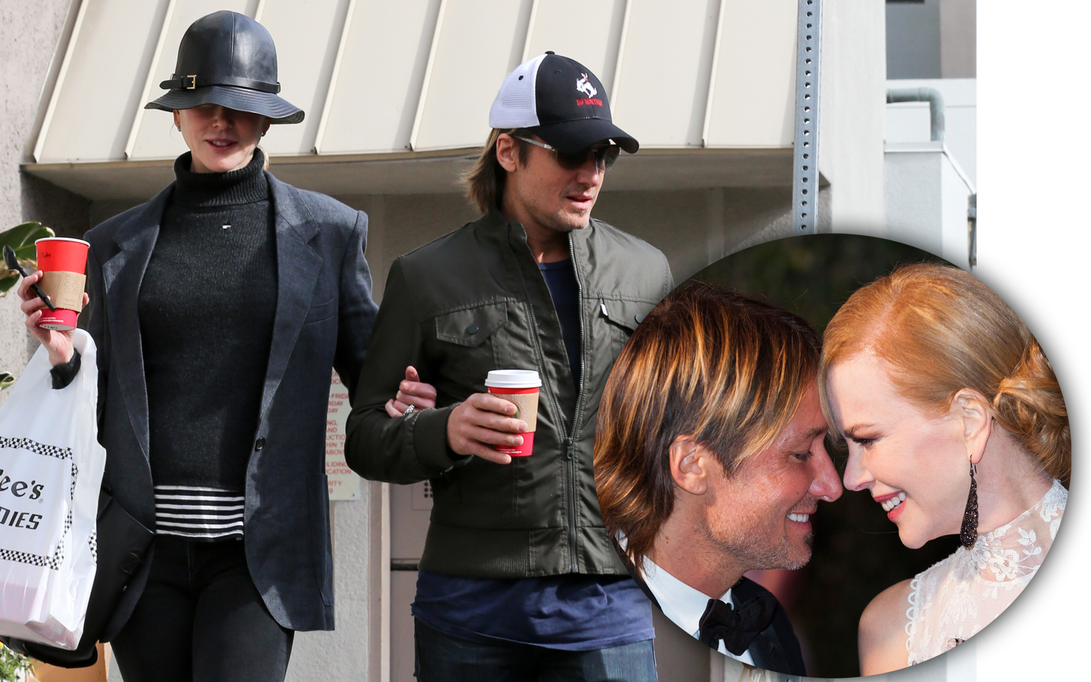 EXCLUSIVE: ** PREMIUM EXCLUSIVE RATES APPLY** Nicole Kidman and Keith Urban spend Christmas Eve at the mall with their daughters in Sherman Oaks, California