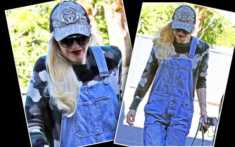 gwen stefani country outfit pregnant blake shelton photos