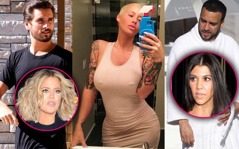 Amber rose spotted with scott disick french montana pp